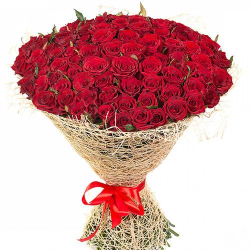 букет фото 101 червона троянда