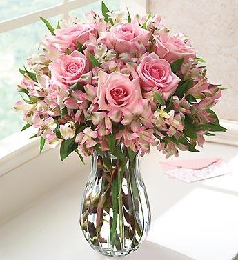 """Букет """"Ніжний настрій"""" троянди та альстромерії"""