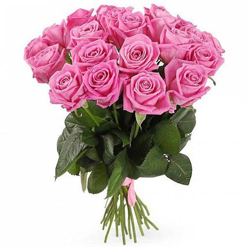 """букет 21 рожева троянда """"Аква"""""""