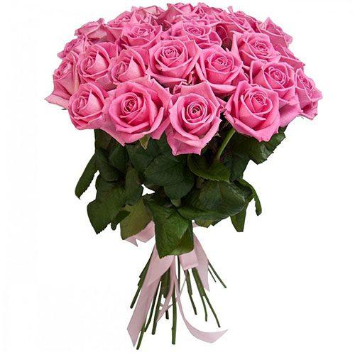 "букет 25 рожевих троянд ""Аква"""