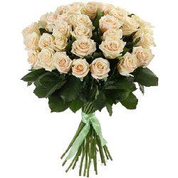 букет 33 кремові троянди