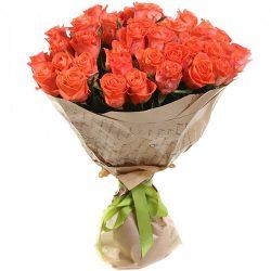 """51 помаранчева троянда """"Вау"""" фото"""