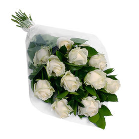 11 білих троянд фото
