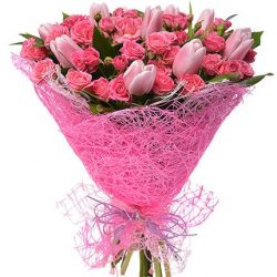 "Букет ""Чари"" тюльпани та троянди"