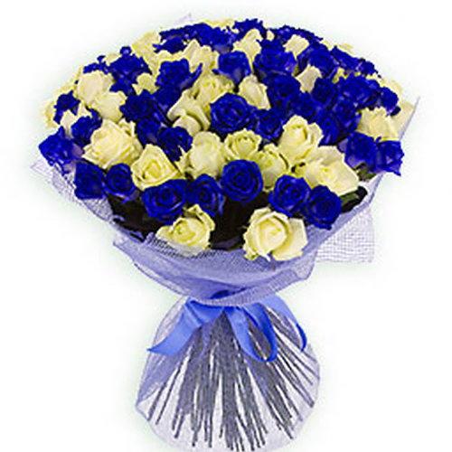 101 біла і синя троянда фото