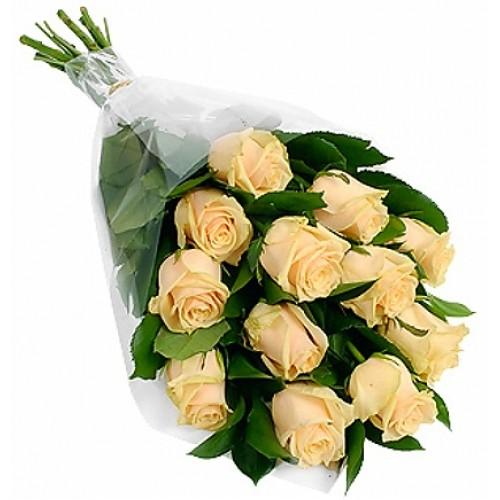 11 кремових троянд фото