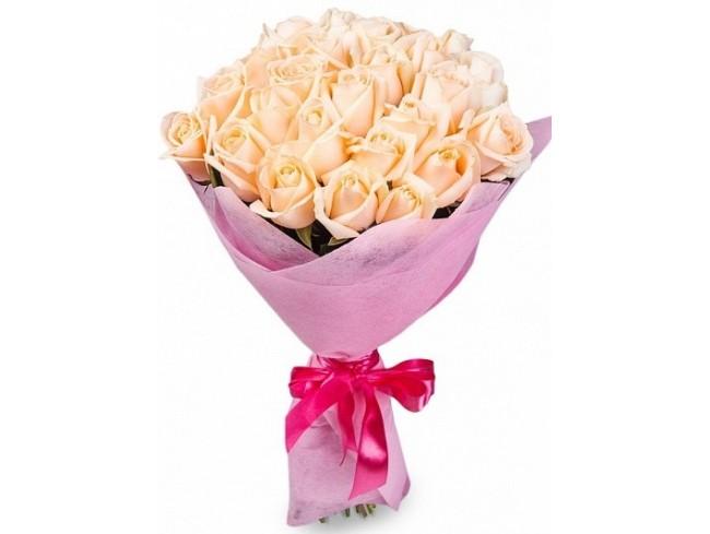 фото 25 кремових троянд