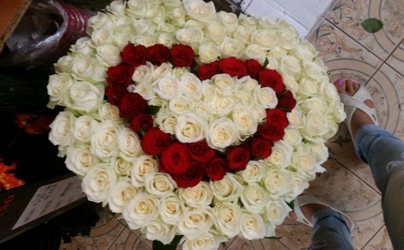 Серце 101 троянда, 3 слоя фото