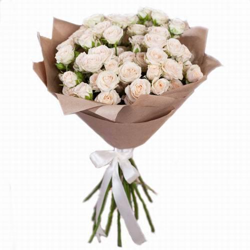 букет 15 кущових троянд