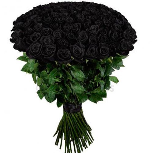 букет 101 чорна троянда картинка
