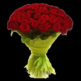101 червона троянда (50см) фото