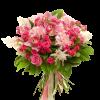 """Букет """"Ностальгія"""" мікс квітів у рожевих тонах"""